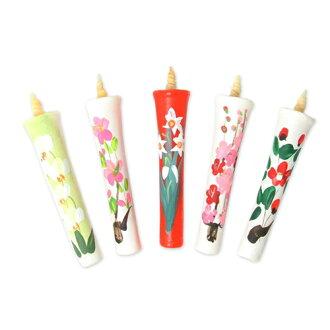 """[] [蠟燭]、 [蠟燭] [日本蠟燭""""和""""100%植物性 OMI 手工日本蠟燭""""大和米糠蠟燭 2 媽媽五件 (蠟燭蠟燭 / 蠟燭 / 蠟燭 / 日本 / 傳統工藝品 / 禮品 / 日本蠟燭 / 禮物 / 小玩意在慶祝)"""