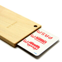 【福井県】伝統工芸品Hacoa(ハコア)木製ICパスケース・カードケース