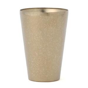 [送料無料][SUS GALLERY/サスギャラリー 新潟県]TITANESS(タイタネス)真空チタンタンブラー/400cc-ロングカップ-ゴールド(真空タンブラー/真空断熱タンブラー/真空チタンカップ/ビール/二重グラス)