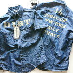 """FREEWHEELERS THE IRONALL FACTORIES CO.  """"1934 SYRACUSE MILE TRACK""""No.1923020【Vintage 7oz Cotton/Linen Chambray】"""