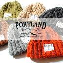 ネパール製 PORLAND ハンドメイド ニットキャップ ニット帽 帽子 キャメル ホワイト ワイン ブラック 手編み ウール 冬用