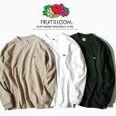 パックT モックネックTシャツ ポケットTシャツ 無地Tシャツ ロンT 長袖Tシャツ FRUIT OF THE LOOM フルーツオブザルーム Tシャツ