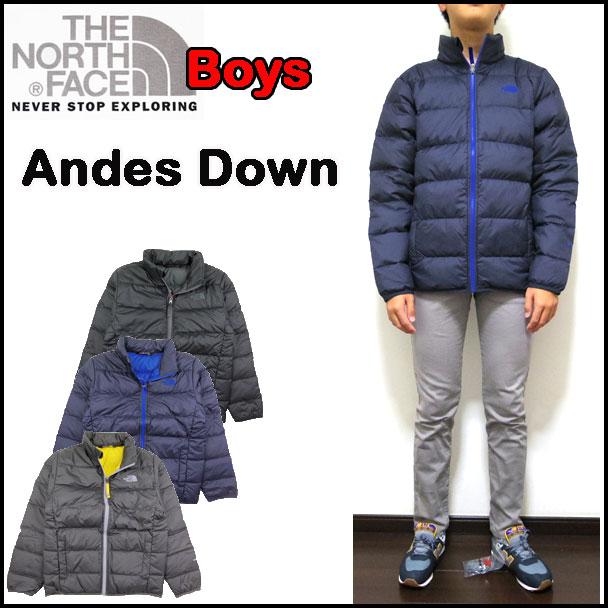 ノースフェイス ダウンジャケット キッズ Andes Down アウター 男の子 17新作 110cm-170cm ジュニア