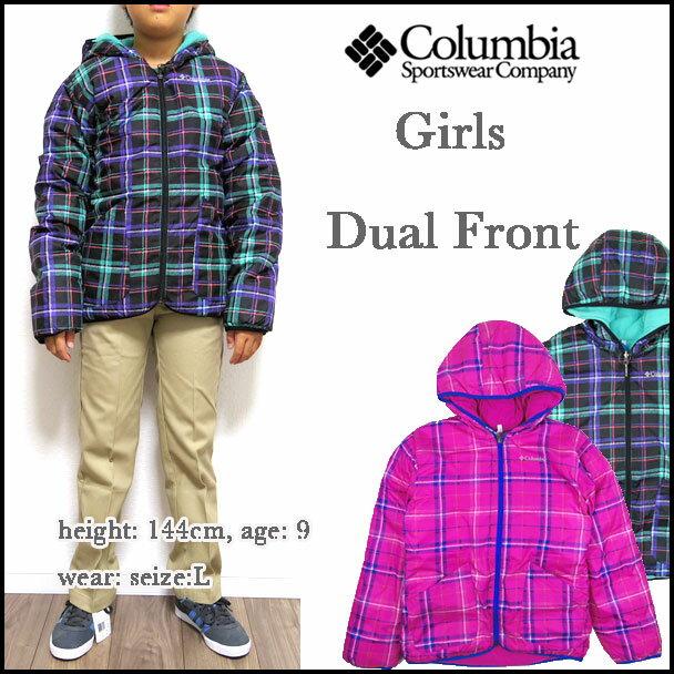 コロンビア/ジャケット/キッズ/リバーシブル/Girls Dual Front Jacket/Columbia/ジュニア/中綿 マウンテンパーカー 05P03Dec16