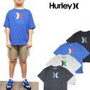 HURLEY ハーレー キッズ Tシャツ ボーイズ BOYS ICON TEE ジュニア ロゴ ティーシャツ 半袖 男の子 140 ...