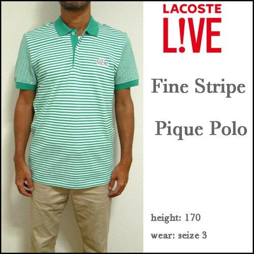 ラコステ/LACOSTE/ポロシャツ/メンズ/Mens Fine Stripe Pique Polo/PH1425-51/クールビズ 05P03Dec...