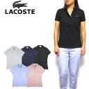 ラコステ LACOSTE ポロシャツ レディース ストレッチ Womens 5 Button Stretch Pique Polo 鹿の子 ビズポロ