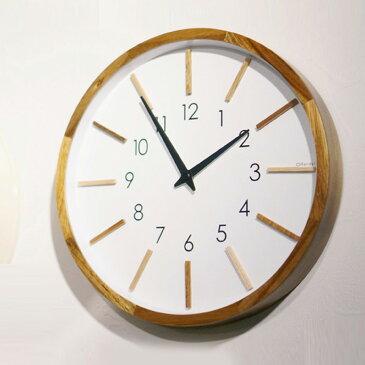 インターフォルム INTERFORM モトレフ Motreff CL-3020 壁掛け時計 ウォールクロック 時計 かけ時計 電波時計 ウッド調 木目 木製 ステップムーブメント 電波 ヴィンテージ レトロ 北欧 おしゃれ 男前インテリア ナチュラル