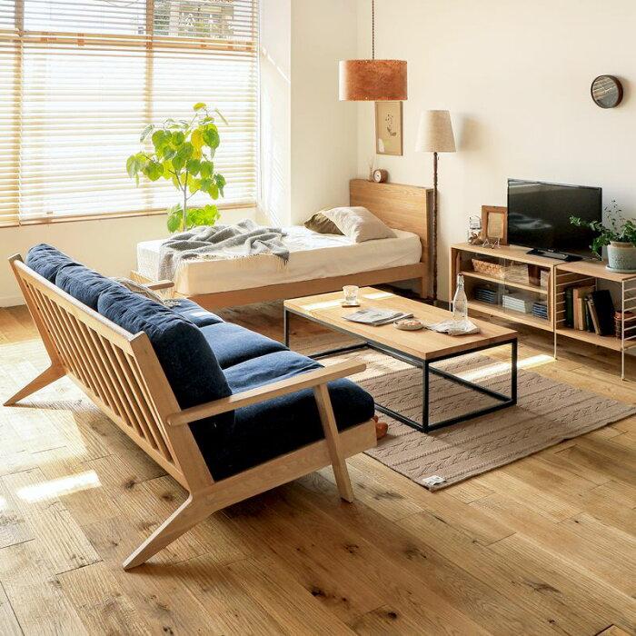 ベッドfolknaturalシングルフレームのみナチュラルベッドフレーム西海岸モダン北欧木製無垢送料無料