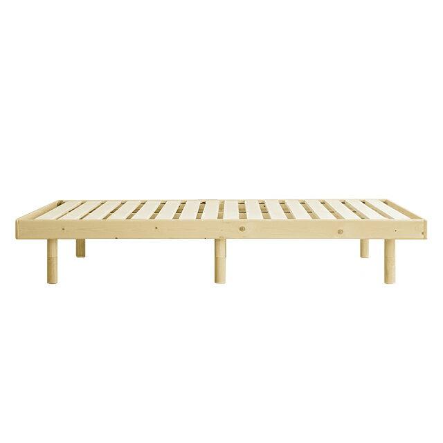 すのこベッドNOWLEシングルサイズサイズフレームのみ北欧ナチュラル木製布団で使える高さ3段階即日出荷可能