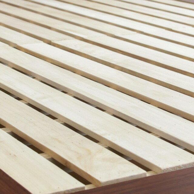 フロアベッドローベッドTOOKクイーンフレームのみ北欧西海岸ヴィンテージ木製送料無料【時間指定不可】