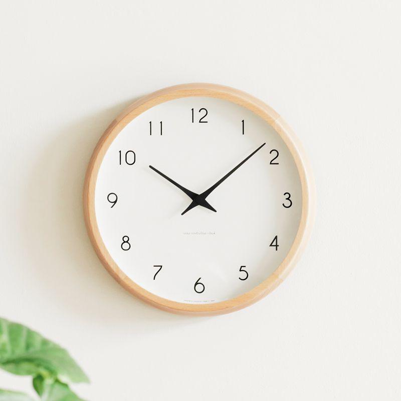 電波時計 掛け時計 Campagne カンパーニュ 北欧 ナチュラル シンプル 木製 レムノス 楽ギフ_包装 あす楽対応