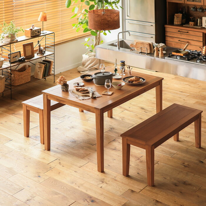 ダイニングダイニングテーブル3点セットGracia幅120テーブルベンチ北欧メンズライクナチュラル木製4人用おしゃれ送料無料即日出荷可能
