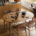 ダイニング テーブル ダイニングテーブル 伸長式 伸縮式 folk ブラウン 幅110 幅170 北欧 ヴィンテージ おしゃれ 送料無料 即日出荷可能