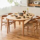 ダイニング テーブル ダイニングテーブル 伸長式 伸縮式 folk ナチュラル 幅110 幅170 北欧 ヴィンテージ おしゃれ 送料無料 即日出荷可能