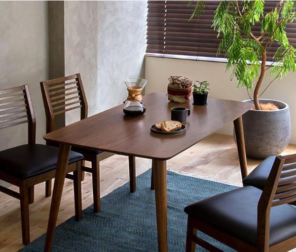 ダイニングテーブル Tomte Lサイズ 北欧 ヴィンテージ インダストリアル 西海岸 木製 ウォールナット おしゃれ 送料無料 即日出荷可能