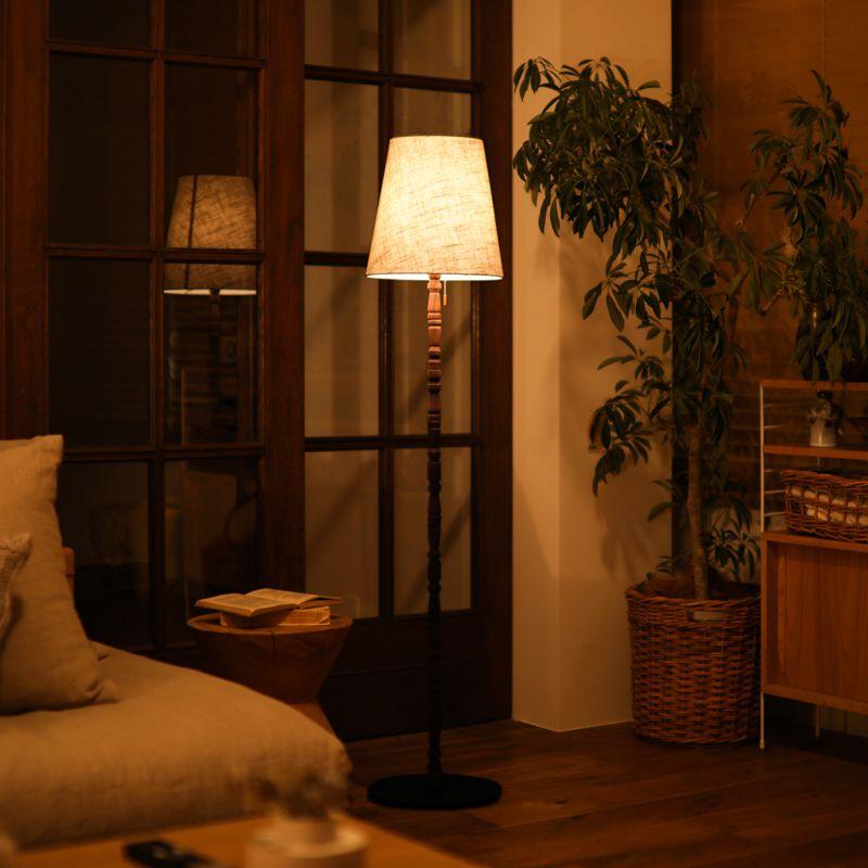 照明 フロアライト フロアランプ リビング照明 ダイニング照明 木製 布製シェード 北欧 日本製 AZF-112-AB GRASP