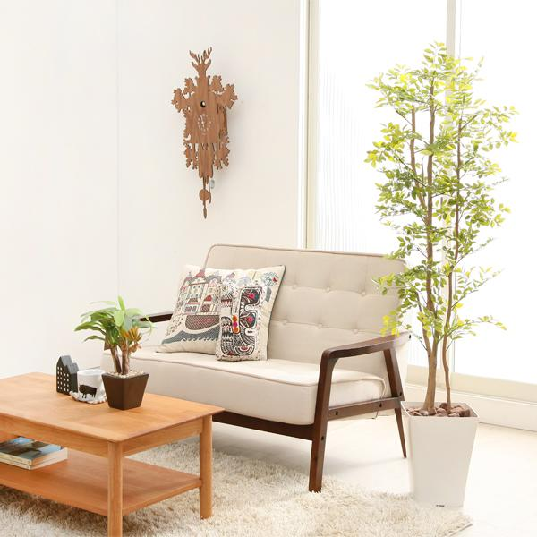 光触媒 観葉植物 フェイクグリーン 大型 北欧 ナチュラル ゴールデンリーフ Sサイズ 消臭 送料無料