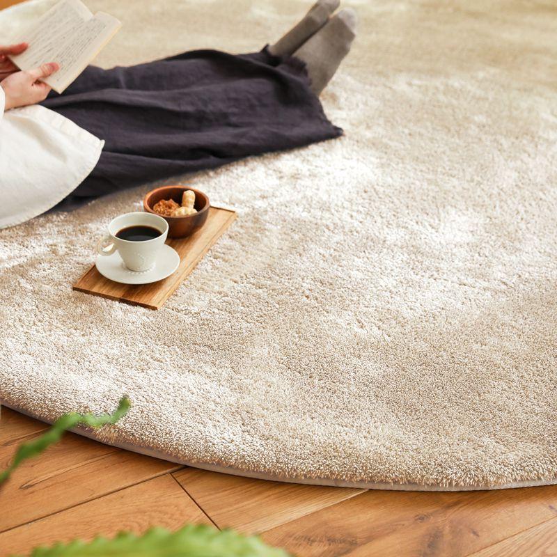 洗える マイクロファイバー ラグ ラグマット colette 直径 140 円形 厚手 北欧 2層ウレタン ウォッシャブル 軽い 床暖房 おしゃれ おすすめ