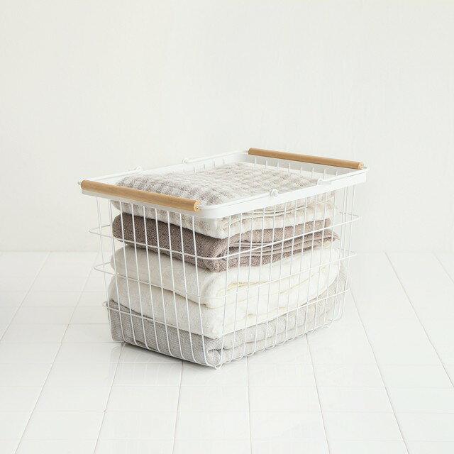 ランドリーバスケット2段洗濯カゴキャスターランドリーワゴンセットtoscaトスカ収納かごカゴ北欧ナチュラルシンプルホワイト白おしゃれ大容量
