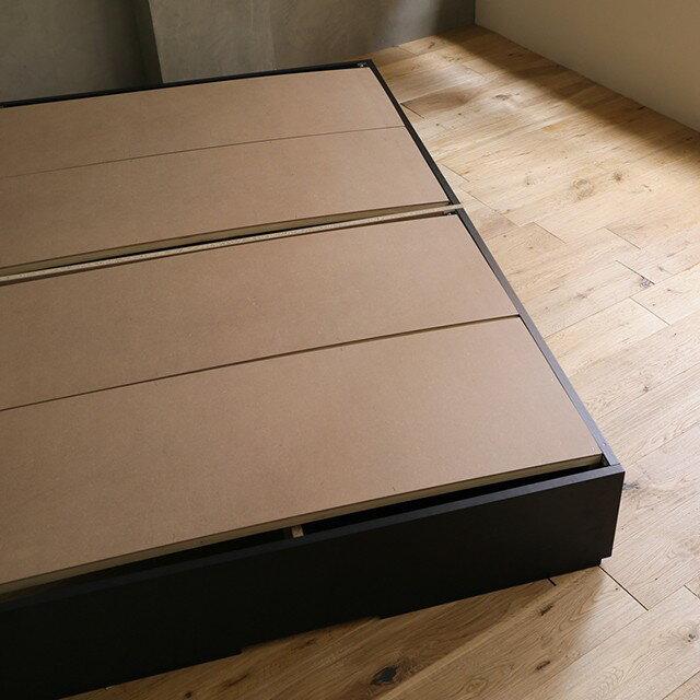 ベッド収納収納付きローベッドKurtセミダブルサイズフレームのみレトロナチュラル木製送料無料時間指定不可即日出荷可能