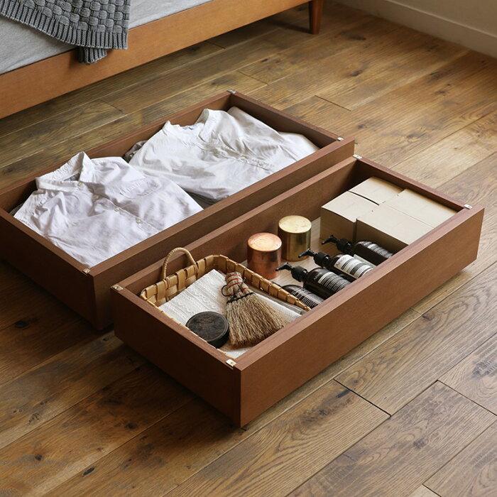 【即日出荷可能】木製ベッドNOANA追加用引き出し(深型ベッド下収納+専用脚セット)送料無料(送料込)【時間指定不可】
