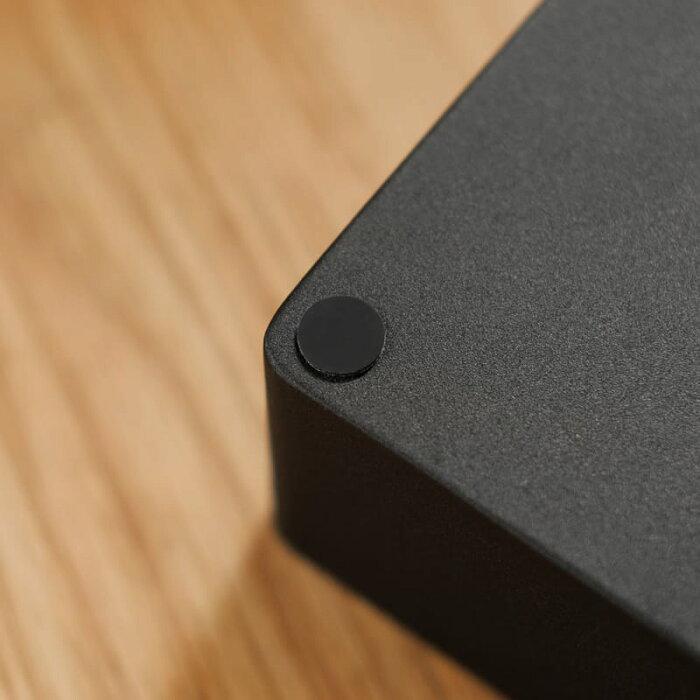 ティッシュケースティッシュボックスカバーふた付きブラック黒北欧モダンRINLサイズ