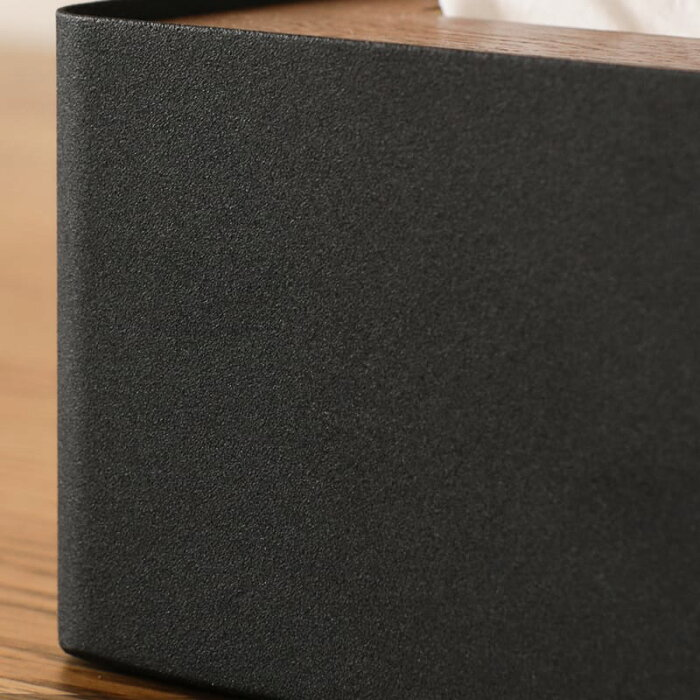 ティッシュケースティッシュボックスカバーふた付きブラック黒ホワイト白北欧モダンRINLサイズ