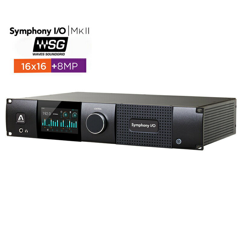 DAW・DTM・レコーダー, オーディオインターフェイス APOGEE Symphony IO MKII SoundGrid Chassis with 16x168MP