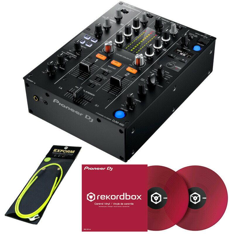 DJ機器, DJミキサー Pioneer DJ DJM-450 RB-VD1-CR DVS SET