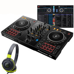 Pioneer DJ DDJ-400 ATH-S100BGR 初心者ヘッドホンセット【セットアップチュートリアル機能搭載】【あす楽対応】【土・日・祝 発送対応】 【ikbp1】
