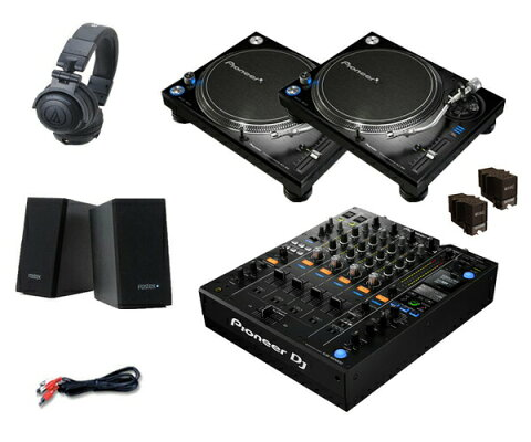 Pioneer DJ PLX-1000 + DJM-900NXS2 セット(スピーカー & ヘッドホン付)