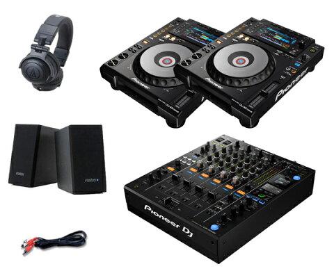 Pioneer DJ CDJ-900NXS + DJM-900NXS2 セット(スピーカー & ヘッドホン付)