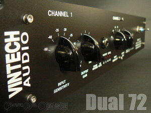 ヴィンテージNeveサウンド復刻モデル。VINTECH AUDIO Dual72【2ch Mic/Inst. Preamp】【国内正規】