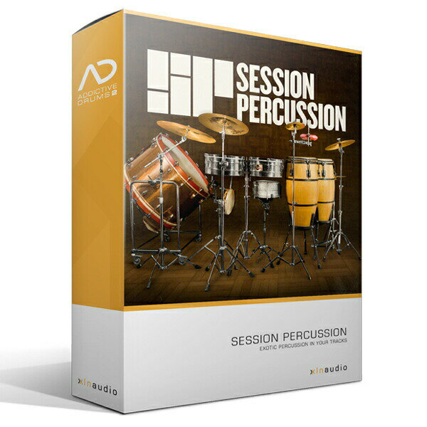 DAW・DTM・レコーダー, 音源 XLN AudioAddictive Drums2 Session Percussion ADPakAddictive Drums 2