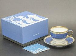 【送料無料】【未使用品】Wedgwood/ウェッジウッドユーランダーパウダーブルーカップ&ソーサー【中古】