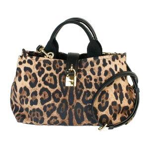 [Used] DOLCE&GABBANA 2Way Bag Ladies Hand Shoulder Leopard Pattern Canvas