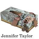 ジェニファーテイラー ティッシュケース おしゃれ ティッシュカバー リボン かわいい 姫系 雑貨 Jennifer Taylor Carlisle カーライル グリーン系