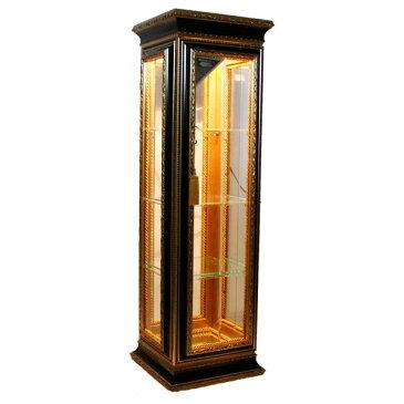 キャビネット 照明 ガラス 完成品 イタリア家具 ディスプレイーケース コレクションケース おしゃれ 92156