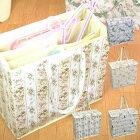 ハンガー収納ボックス花柄猫柄PVC洗濯用品収納リッシェローズ/ウエイトキャット/ハニーローズ/クロエローズ全4種