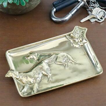 真鍮 灰皿 W13×D9×H1cm イタリア製 84459