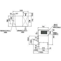 福島工業製氷機スタックオン240kg幅1080×奥行745×高さ1040(mm)FIC-A240KL1T(旧型番:FIC-A240KL-T)【業務用製氷機】