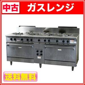 フジマック ガスレンジ 7口2オーブン ガスレンジ 中古 送料無料【中古】:フジマック ガス...