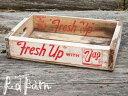 【商品合計税込3980円で送料無料】 ヴィンテージ ボックス 7up セブンアップ・ホワイト (木箱)【再入荷2回目】