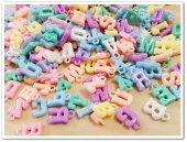 アルファベットのプラスチックパーツ50個セット(ランダム)