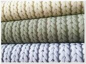 【10番綿麻キャンバス】三つ編み模様のプリント生地
