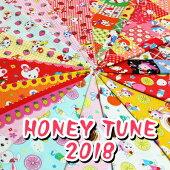 【シーチング】HoneyTune新柄♪2018≪ハニーチューン≫昭和レトロなアニマル柄生地布水玉ドット花柄ルシアン