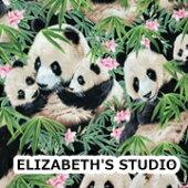 【USAコットン】ELIZABETH'SSTUDIO<PANDA>パンダ柄生地布アニマルエリザベスズスタジオエリザベススタジオ