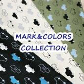 【オックス】MARK&COLORSCOLLECTION<くるま柄>ルシアン生地布車柄