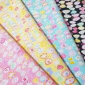 【シーチング】リボンな花蝶々柄綿100%約110cm巾布生地バタフライ